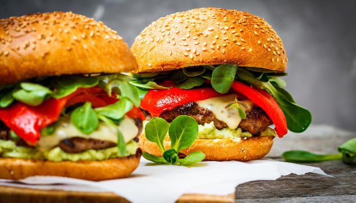 Hamburger med guacamole